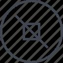 abstract, creative, cross, crossed, design, edge icon