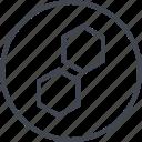 abstract, creative, design, hexagon, two icon