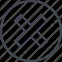 abstract, creative, delete, denied, design, stop icon