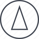 abstract, creative, design, sharp, triangle icon