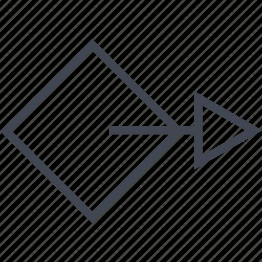 abstract, arrow, design, go, next icon