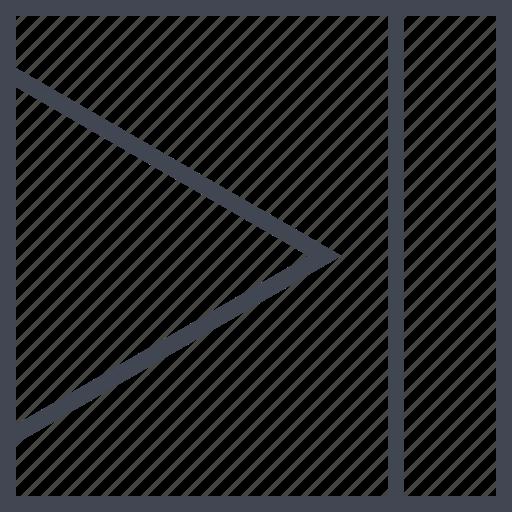 abstract, arrow, design, go, right icon