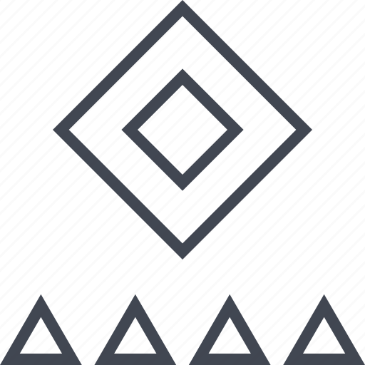 abstract, assorted, cube, design, triangles icon