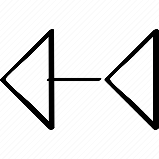 abstract, arrow, left icon