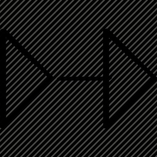 abstract, arrow, go icon