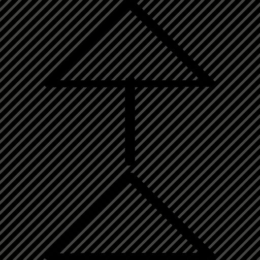 arrow, high, upload icon