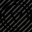 arrow, down, triangle icon