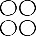 creative, design, dots, four icon