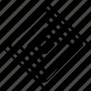 cube, eye, maze icon