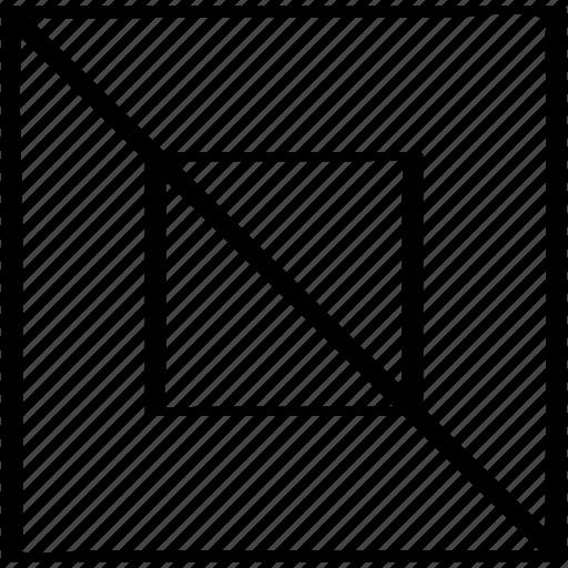 cross, design, diagnol icon