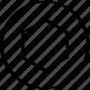center, design, hexagon icon