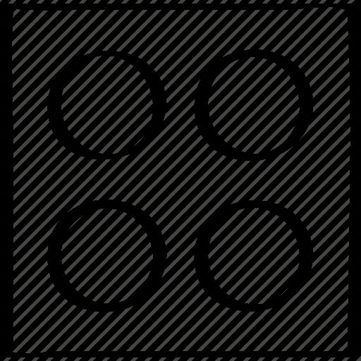 dice, four, roudn icon