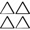 abstract, creative, design, four icon