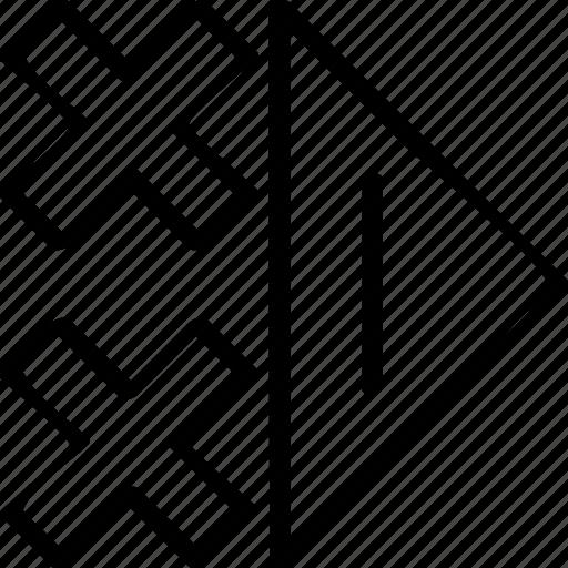 go, right, triangle icon