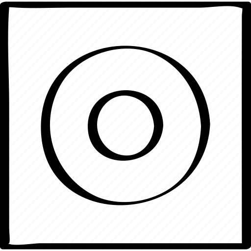 abstract, goal, target icon