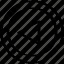 back, backwards, left icon
