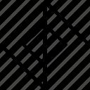 abstract, creative, design, line icon