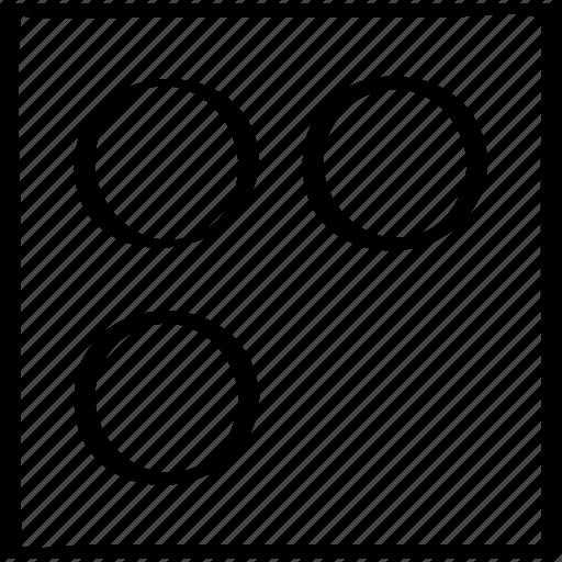 dice, puzzle, round icon