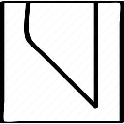 abstract, edge, sharp icon