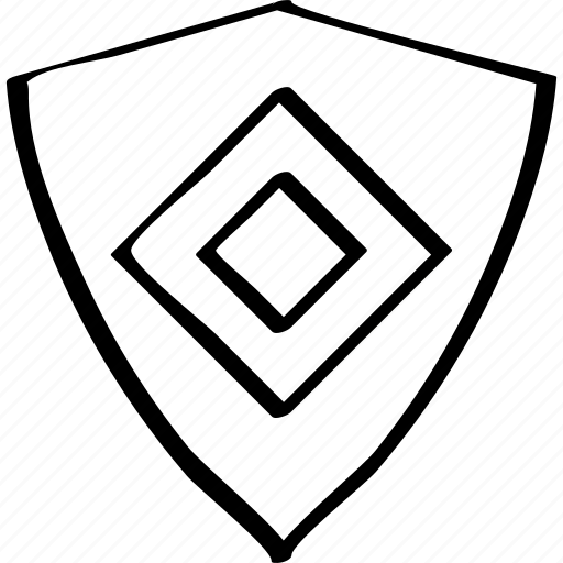 design, hexagon, shield icon