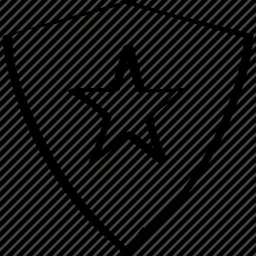 design, shield, star icon