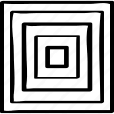 abstract, maze, target icon