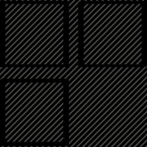 design, three, windows icon