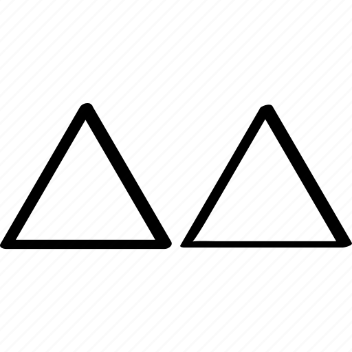 abstract, triangles, two icon