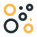 abstract, bubbles, circles, figure, mark icon