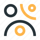 abstract, circles, figure, lines, mark, polymorph icon