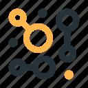 abstract, circles, connection, figure, mark, polymorph, scheme icon