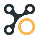 abstract, circles, connection, figure, mark, polymorph, structure icon