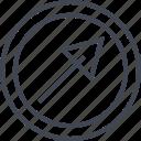 abstract, arrow, click, creative, design, shape icon
