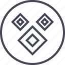 abstract, creative, cube, design, shape, three icon