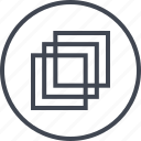 abstract, creative, design, duplicate, shape, three icon