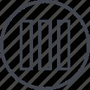 abstract, bars, creative, data, design, shape, three icon