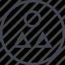 abstract, creative, design, shape, three icon