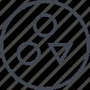 abstract, creative, design, puzzle, shape, three icon