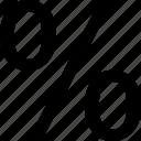 number, percent, percentaga, rate icon