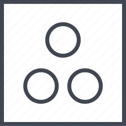 abstract, design, dots, three icon