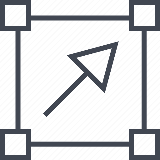 abstract, arrow, click, design, point icon