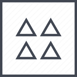 abstract, design, four, triangles icon