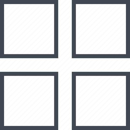 dots, four, menu, windows icon