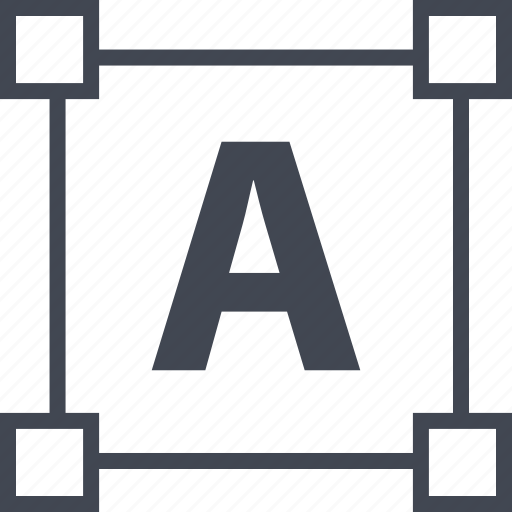 a, abstract, design, edit, letter, lettering icon