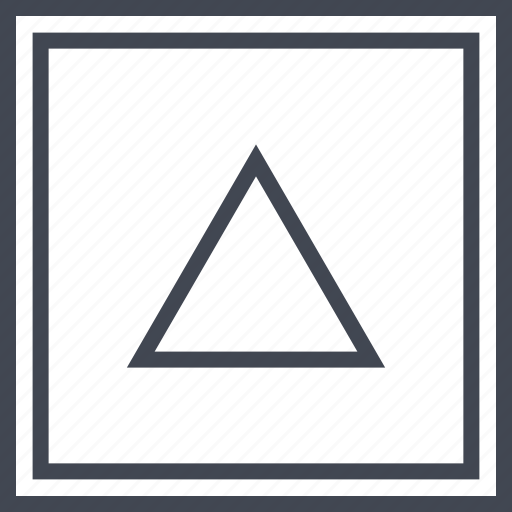 pointer, triangle, up, upload icon