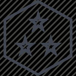 abstract, design, stars, three icon