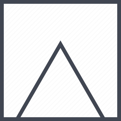 arrow, point, pointer, pyramid, up icon