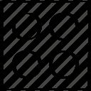 abstract, creative, design, dice icon