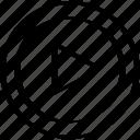 abstract, creative, design, go, right icon