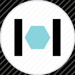 abstract, center, creative, hexagon icon